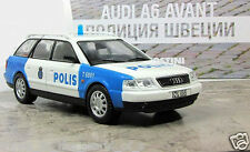 "Audi A6 Avant 1:43 Deagostini Sweden police model №38 ""World Police"""