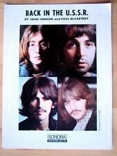 The Beatles original Swedish sheet music Printer's Copy Back in the U.S.S.R