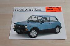 109854) Autobianchi Lancia A112 Elite Prospekt 12/1980