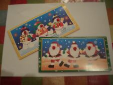 Pack of Four Christmas Money Wallets with envelopes. Two each of two designs