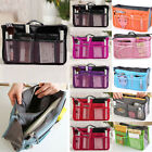 Women Travel Insert Handbag Organiser Dual Bag in Bag Organizer Tidy Bag EA