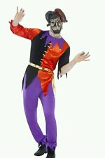 """MENS CIRQUE SINISTER TWISTED JESTER HALLOWEEN COSTUME MASK LARGE CHEST 42"""" - 44"""""""