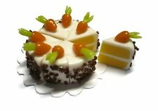 Carrot Cake Dollhouse Miniatures Food Supply Deco Easter 2.20 cm