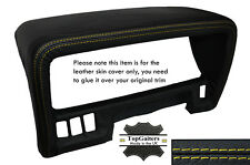 YELLOW STITCHING SPEEDO HOOD TRIM LEATHER SKIN COVER FITS NISSAN PATROL Y60