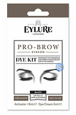 EYLURE PRO BROW BLACK DYBROW COLOUR TINT EYEBROW DYE KIT MASCARA.