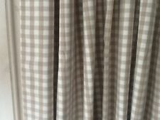"LAURA ASHLEY GINGHAM CHECK DARK LINEN INTERLINED DOOR CURTAIN  - NEW 90"" DROP"
