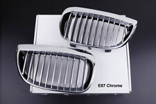 BMW 1M E81 E87 + LCI M135 NEW CHROME Kidney Grills 1 SERIES 118D 120D 120i 130i