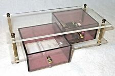 Vintage Lucite RETRO Jewelry/Music Box - Godfather Theme - Speak Softly Love