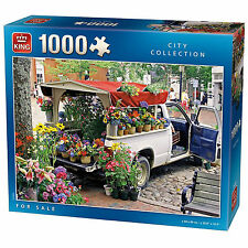 1000 Piece Jigsaw Puzzle French Flowers Plants Pot For Sale From White Van 05099