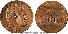 President William J. Clinton  Bronze Medal US MINT Velvet Case 2nd Term