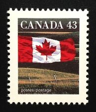 Canada #1359 AP 13.6x13.1 MNH, Flag Over Field Definitive Stamp 1992
