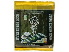 Yaki Sushi Nori Alghe 25g 10 Foglie fogli di Sushi Alghe tostate fogli
