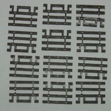 ATLAS 598 HO Scale Code 83 Track Flex Track End Ties Brown Qty(12)