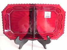 Avon Cape Cod Ruby Red Two Part Divided Relish Dish NIB ..