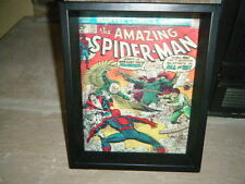 """THE AMAZING SPIDER-MAN COMIC COVER #141 3D Shadow Box  9"""" X 11"""" MYSTERIO 1ST"""