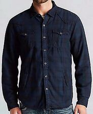 ☀️NWT $199 TRUE RELIGION Plaid THICK LINED Flannel Shirt Jacket Men's MEDIUM