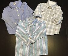 Lot of 3 Baby Boy Button Down Shirts (baby Gap, Guess) 18 Months-2t