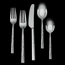 Vera Wang Wedgwood HAMMERED 5 Pc Place Setting (S) Stainless Flatware - NEW/BOX!