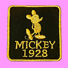 Mickey Mouse 1928 Golden Logo Cartoon Kids Embroidered Jacket Iron On Patch