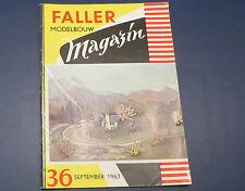 Faller  AMS --  Modellbau Magazin 36 von 1963, niederländische Ausführung