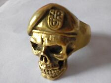 Bronze Special Forces Skull Ring Custom Sized Military Army Rebels war R-157b