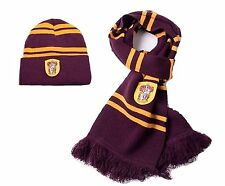 "(Set of 2) Harry Potter Scarf and Hat - Scarf 70"" Long; 100% Soft Wool"