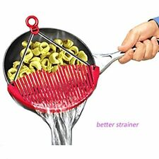 BETTER STRAINER large expandable strainer just lock on & strain ~ As Seen on TV