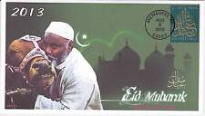 JVC CACHETS -2013 EID HOLIDAY ISSUE #3 FIRST DAY COVER FDC - EID MUBARAK!