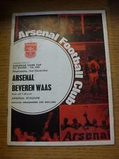 02/12/1970 Arsenal v Bevern Waas [Inter Cities Fairs Cup] (Folded, Foxing)