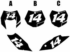 2011 KTM 200XC-W Custom Pre-Printed Black Backgrounds White Numbers