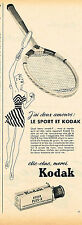 PUBLICITE ADVERTISING 124  1952   KODAK   les films  PLUS -X