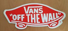 *** Vans - Skateboard Sticker - Vans off the wall - rot  - ca.12x30cm ***