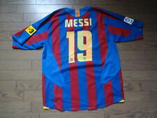FC Barcelona #19 Messi 100% Original Jersey Shirt 2005/06 Home L Good Condition