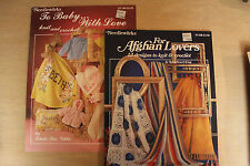 KNIT and CROCHET PATTERN BOOKS Set of 2 UNUSED OOP w/ Free item
