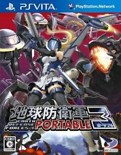 Used PlayStation PS Vita Earth Defence Force 3 Portable Free Shipping
