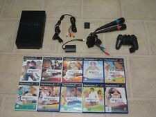 Playstation 2 komplett mit Controller + 5 Singstar Spiele + Micros + MC PS2 PS 2