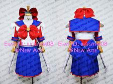 Codename: Sailor V Minako Aino Cosplay Costume Outfit Mask Bow Shirt Skirt Glove