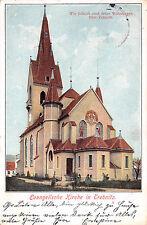 Evangelische Kirche in Trebnitz, Schlesien, Postkarte 1913