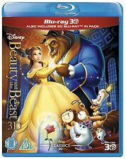BEAUTY AND THE BEAST [Blu-ray 3D + Blu-ray Disc] Classic Disney Movie OOP in US