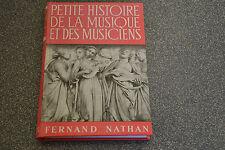 Petite histoire de l'art et des artistes la musique et les musiciens (C6)