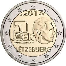 2 Euro Gedenkmünze Luxemburg Luxembourg 2017 Wehrdienst Army UNC VVK Vorverkauf