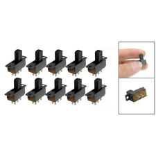 10 Pcs 6 Pins 2 Positions DPDT On/On Mini Slide Switch B3