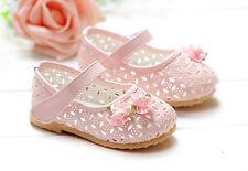 Nouvelles Filles De Bébé Roses Chaussures De Fête 9-12 Mois
