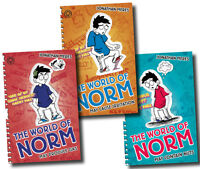The World of Norm Collection Jonathan Meres 3 Books Set (May Contain Nuts, Etc)