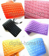 Flexible Silicone Rubber PC Keyboard anti water USB  Rich colors can your Choose