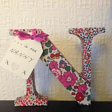 N is For Nanny, Nanna, Nan Or Any Name Letter Mothers Day Personalised
