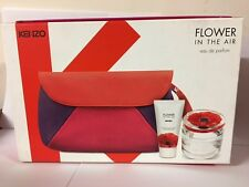 KENZO FLOWER IN THE AIR 3 PCS GIFTSET 3.3 oz / 100 ML EDP SPRAY WOMEN NEW IN BOX