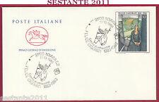 ITALIA FDC CAVALLINO FELICE CASORATI PITTORE 1986 ANNULLO NOVARA Y469