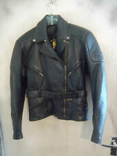 WOMANS VINTAGE 70'S BELSTAFF LEATHER MOTORCYCLE JACKET SIZE 12