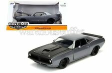 JADA 1:24 BIG TIME MUSCLE 1973 PLYMOUTH BARRACUDA DIECAST CAR 98235 GREY COLOR